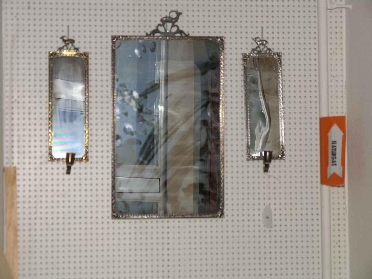 Spegel samt spegellampetter