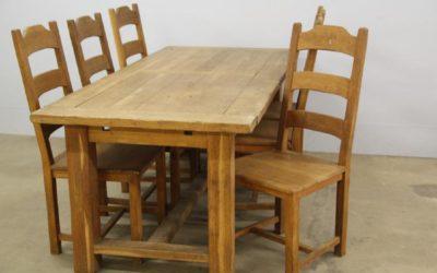Franskt lantbord med 6 stolar